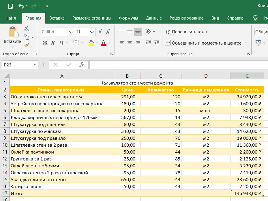 Формат ячеек в Excel: Числовой формат с разделителями