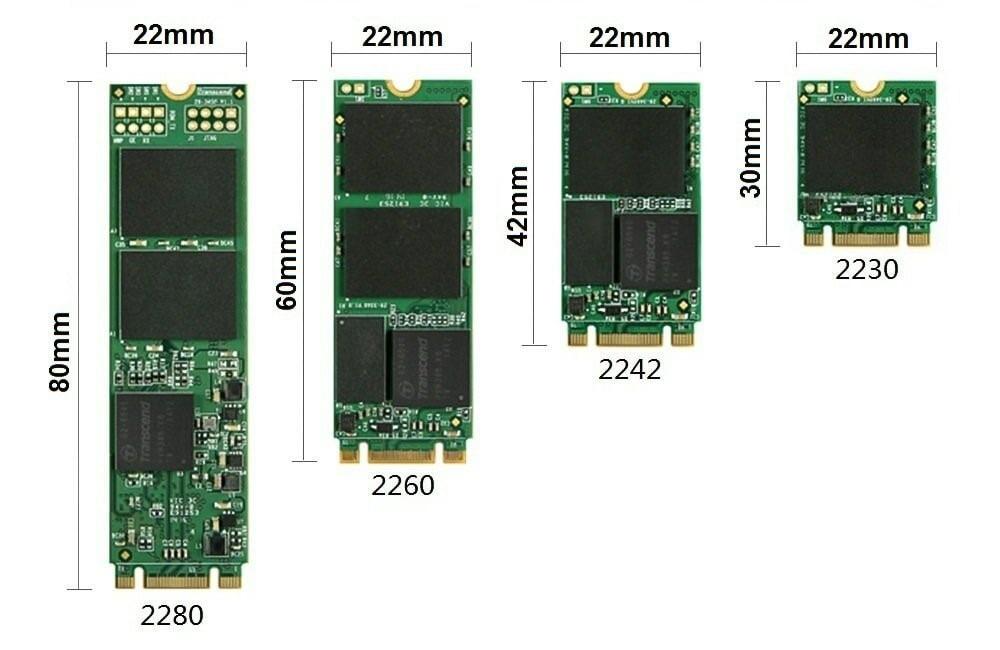 Типоразмеры накопителей SSD M2