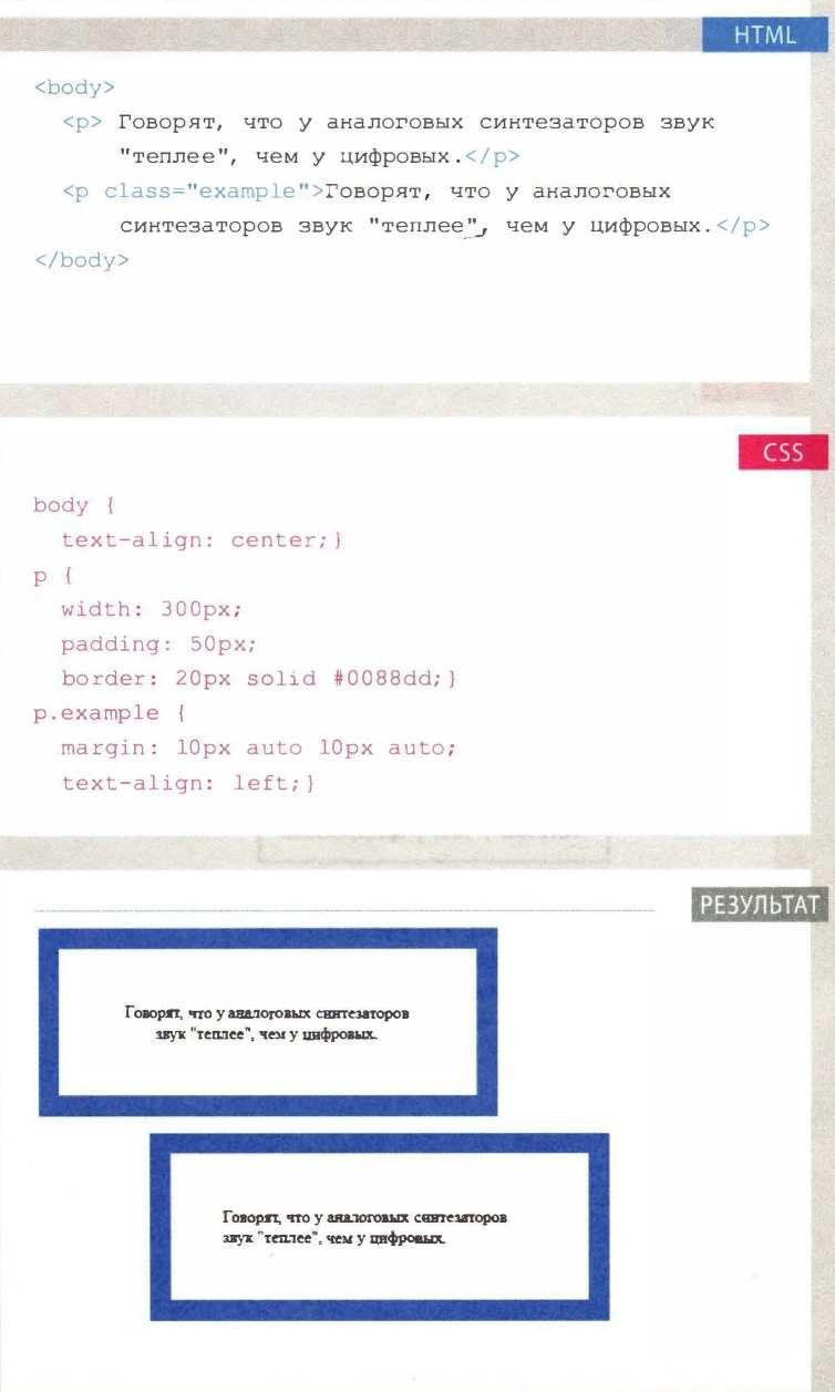 Блоки CSS: Центрирование контента