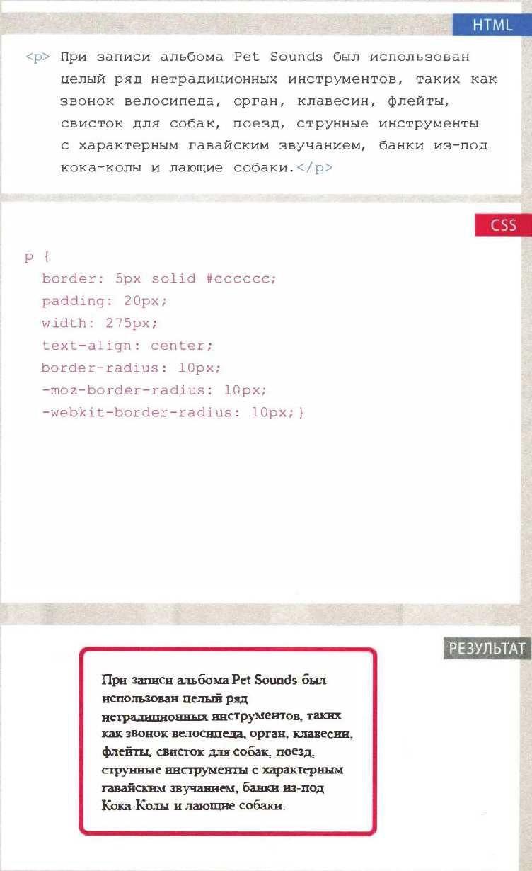 Блоки CSS: Закругленные углы